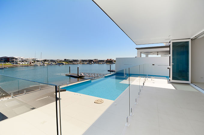 Harbourside Crescent Waterfront Residence designed by Robert Snow Architect